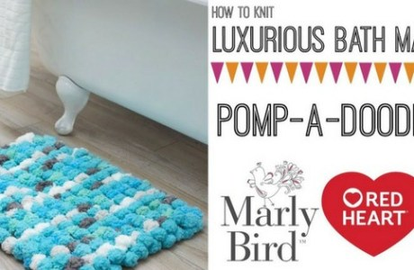 Knit a Bath Mat with Poufy Yarn