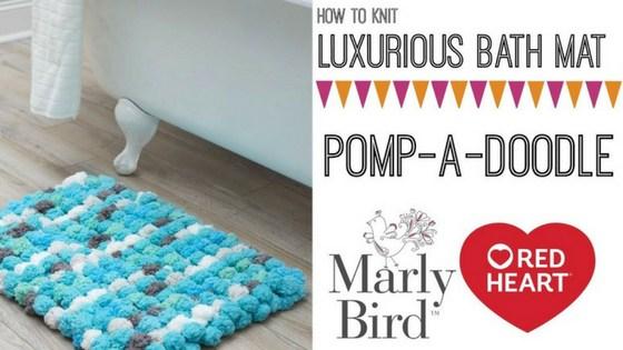 knit bath mat pomp-a-doodle