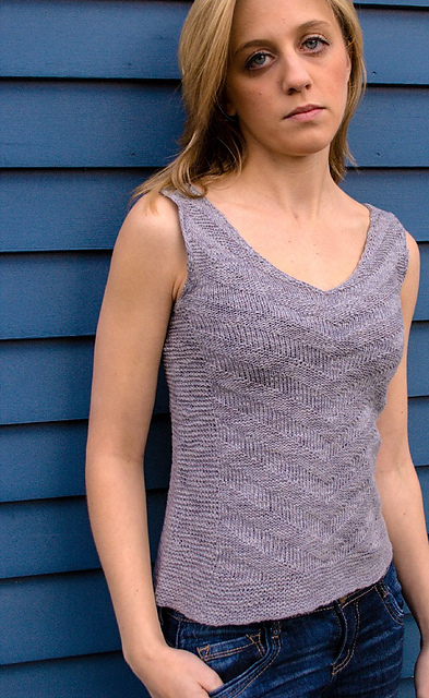 sleeveless top knitting pattern