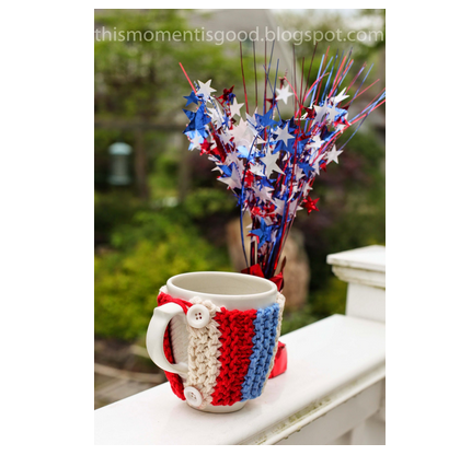 american flag coffee cup cozy