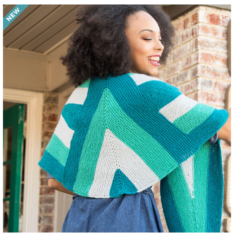 geometric shawl knitting pattern