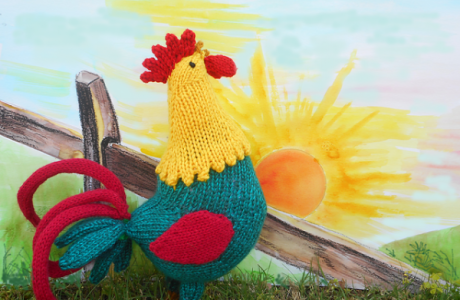 Say Good Morning to This Fun Knit Rooster