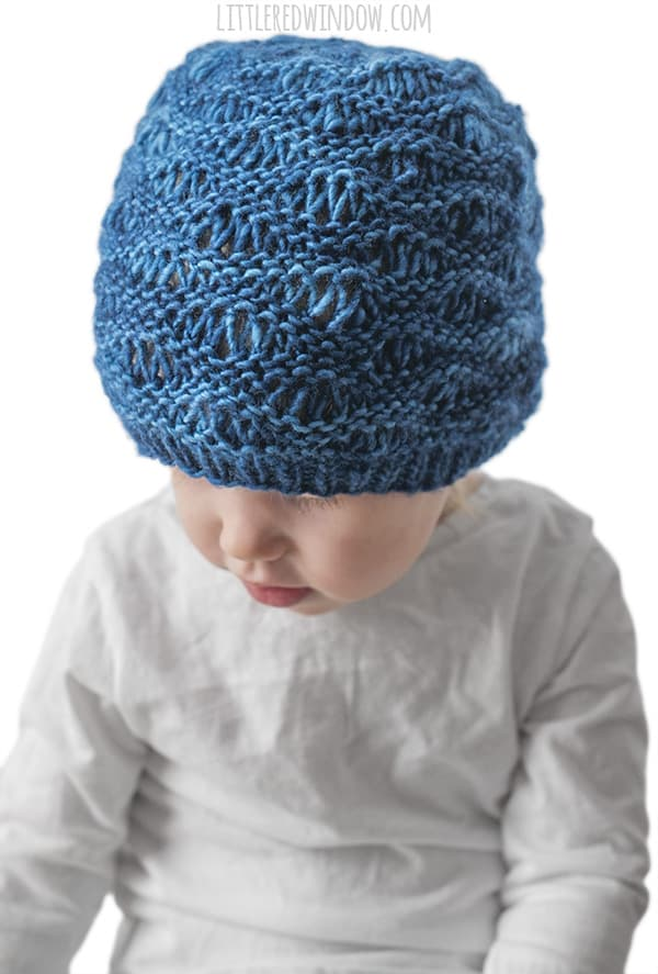ocean waves drop stitch baby hat