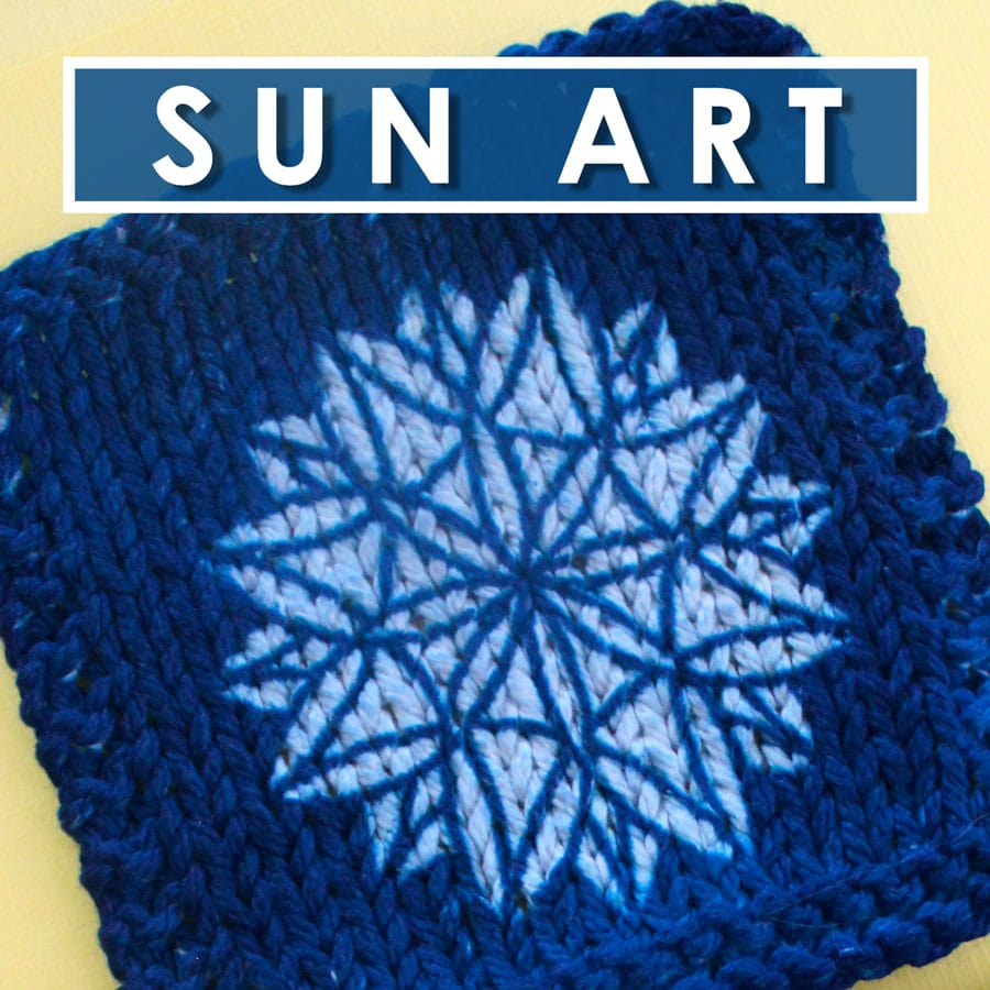 sun art knitting swatch