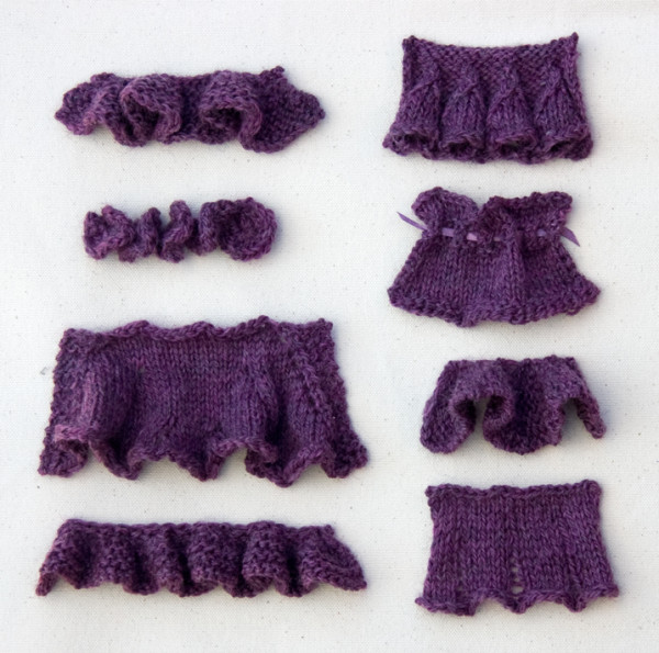 how to knit ruffles