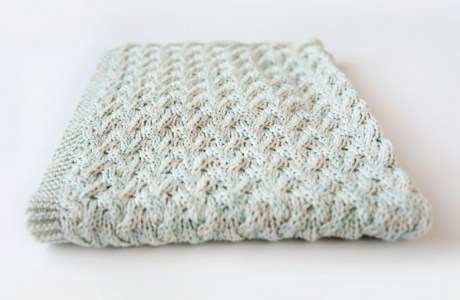 Simple Cables Make a Sweet Effect on This Knit Baby Blanket