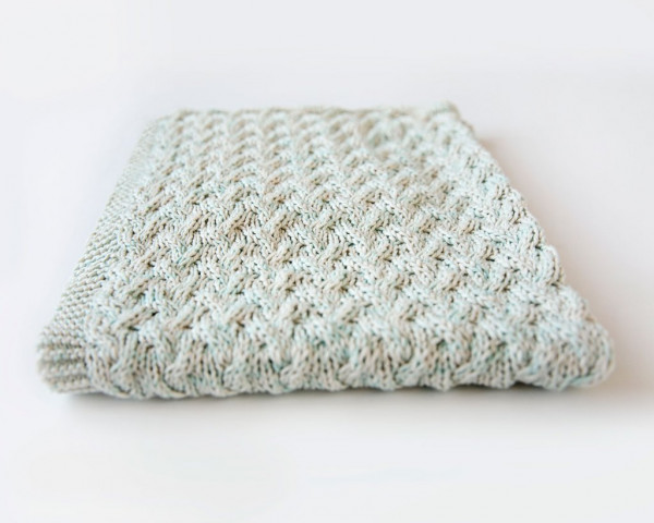 Simple Cables Make A Sweet Effect On This Knit Baby Blanket Knitting