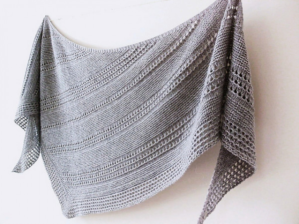 Another Awesome Asymmetrical Shawl – Knitting