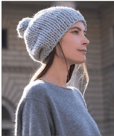 easy stockinette hat knitting pattern