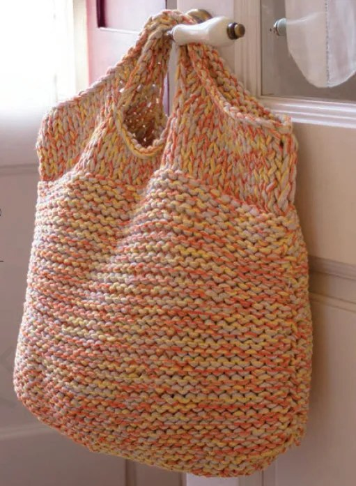 Knit A Giant Bag To Hold Your Knitting Stuff Knitting