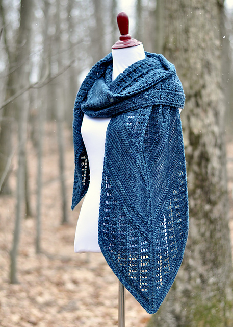 in the stacks shawl knitting pattern
