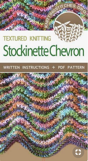 stockinette chevron knitting stitch pattern