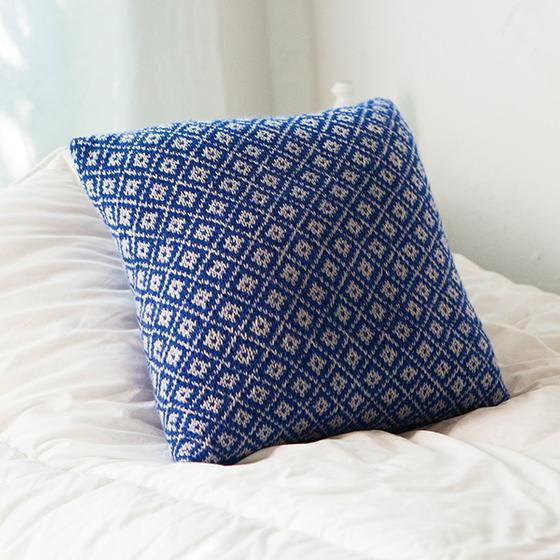 fair isle pillow knitting pattern
