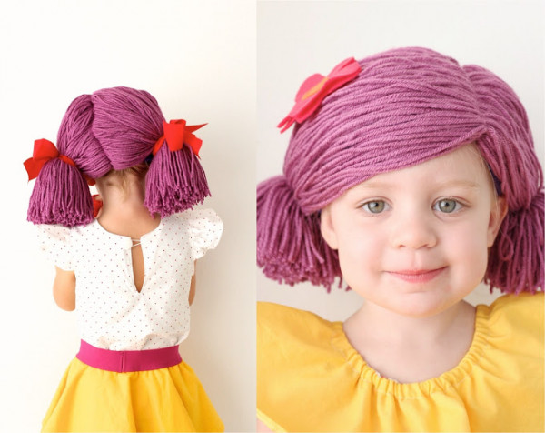 how to make a yarn wig four ways