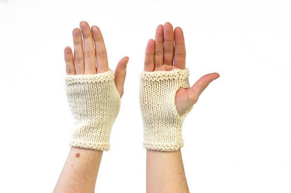 learn to knit mitt pattern