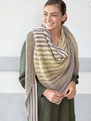 striped shawl knitting pattern