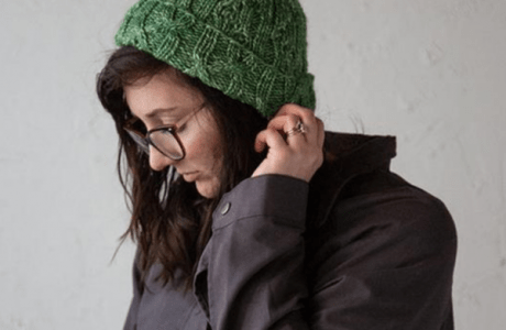 conifer cap cabled knitting pattern