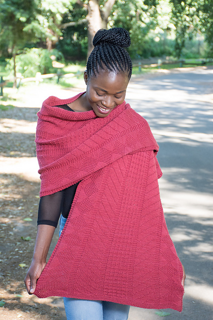 lerato wrap textured knitting