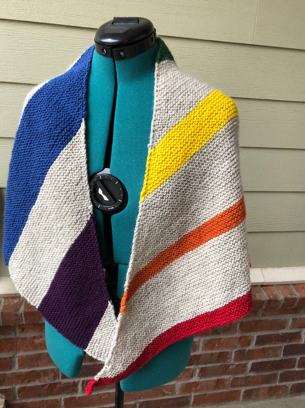 rainbow dash shawl