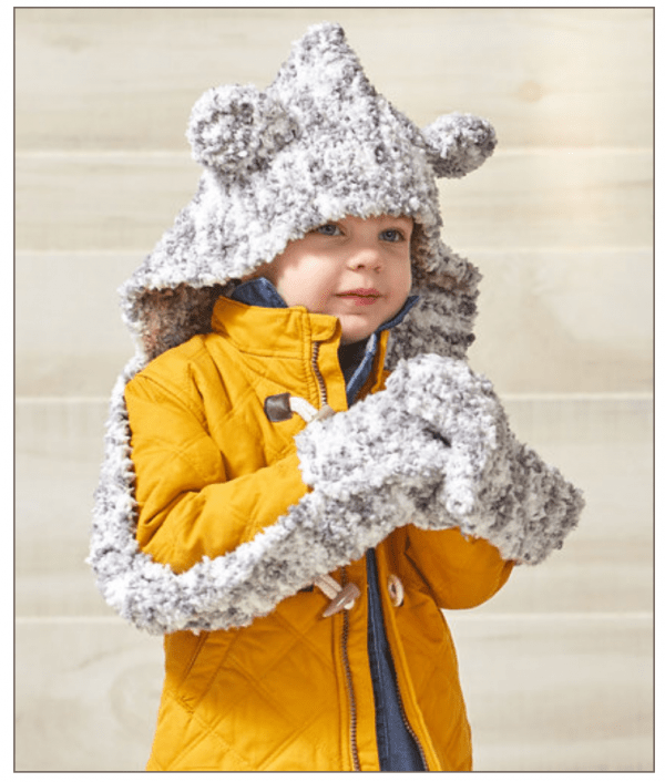 Knit a Hooded Bear Scarf for Your Little One