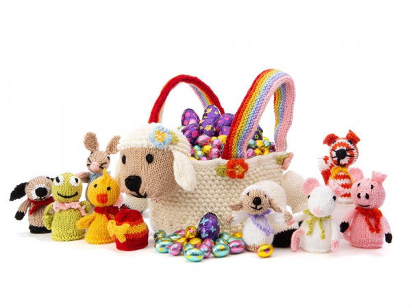 A Lamb Easter Basket and Critters to Knit