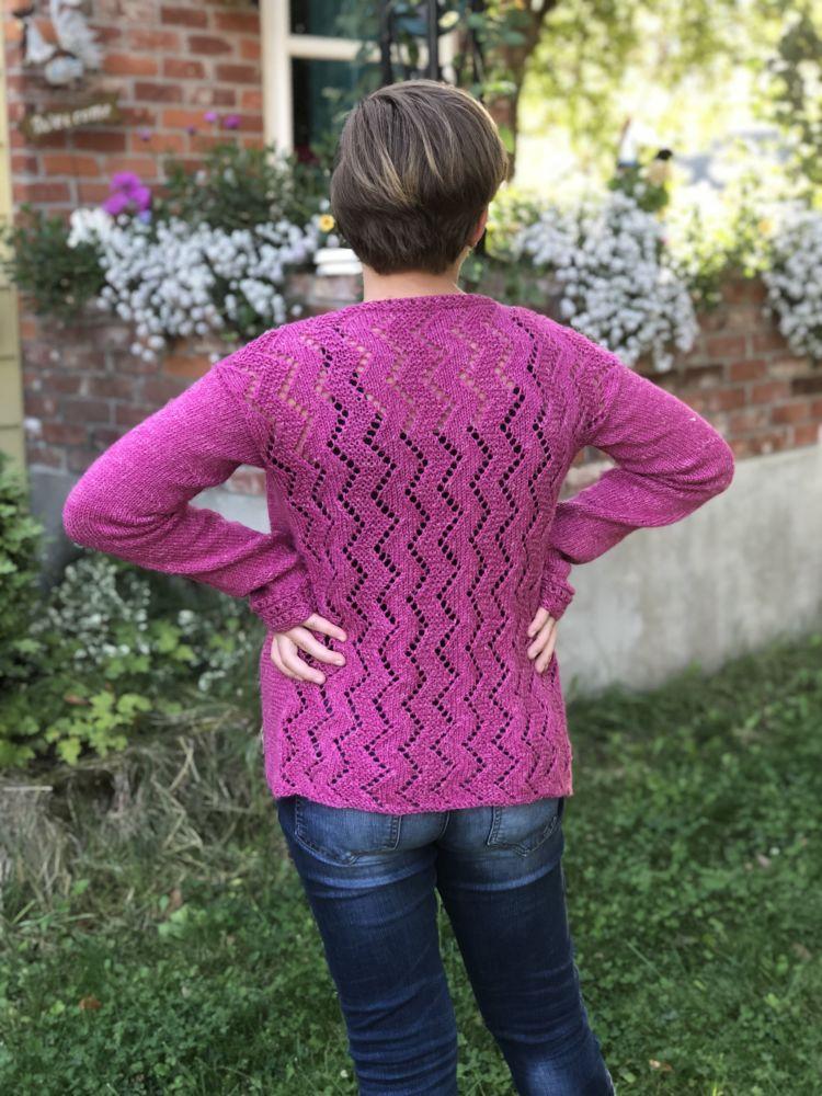 rose thrift cardigan knitalong