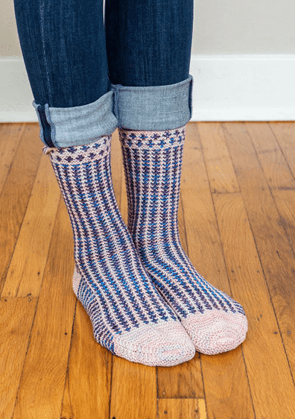 Fun Two-Color Socks to Knit