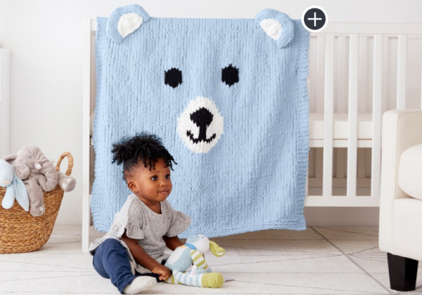 Knit a Sweet Bear Blanket for a New Baby