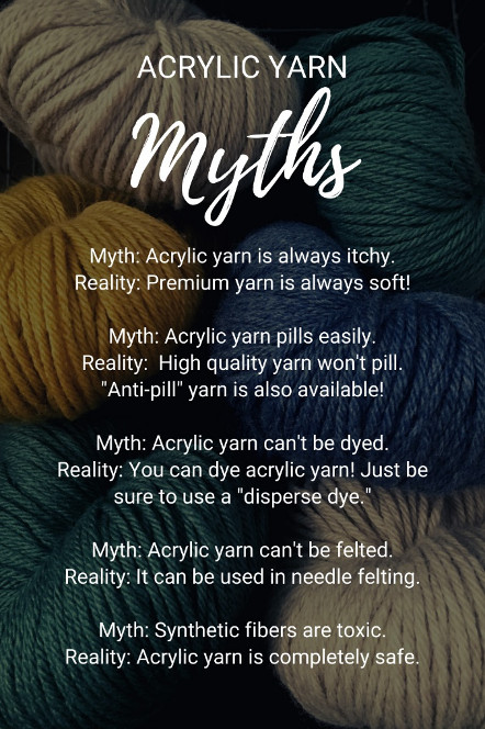 Acrylic yarn myths – Here are 5 common myths about acrylic yarn!