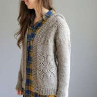 A Cozy Cardigan Knitting Pattern for Staying at Home
