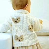 Vintage Knitting Pattern - Teddy Bear Cardigan