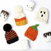 Marshmallow Mug Halloween Hats to Knit