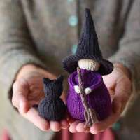 Little Witch Knitting Pattern Set