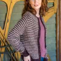 Two-Color Cardigan a Perfect Knitting Pattern for Fall