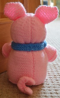 Pig Doorstop Knitting Pattern - Knitting by Post