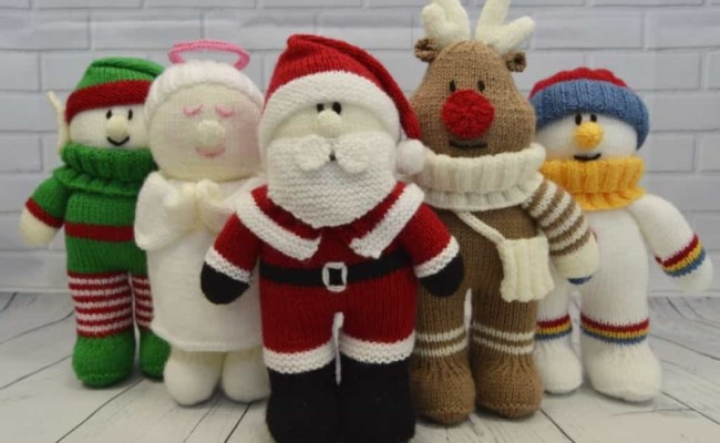 Festive Friends Collection Of 5 Knitting Patterns