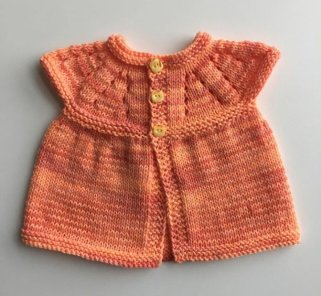 Knitted baby dress, vest, cardigan, sweater, overalls patterns (113)