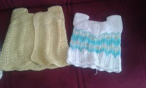 Knitted baby dress, vest, cardigan, sweater, overalls patterns (136)