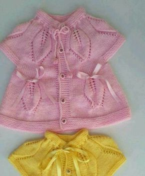 Knitted baby dress, vest, cardigan, sweater, overalls patterns (153)