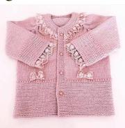 Knitted baby dress, vest, cardigan, sweater, overalls patterns (161)