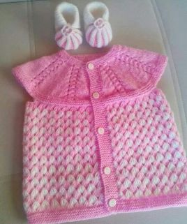 Knitted baby dress, vest, cardigan, sweater, overalls patterns (225)