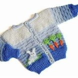 Knitted baby dress, vest, cardigan, sweater, overalls patterns (251)