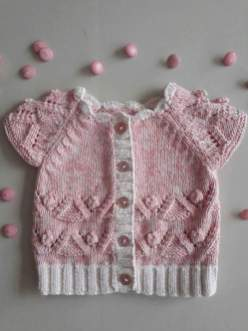 Knitted baby dress, vest, cardigan, sweater, overalls patterns (285)