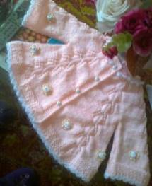 Knitted baby dress, vest, cardigan, sweater, overalls patterns (777)