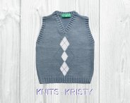 Knitted baby sweater, vest patterns (12)