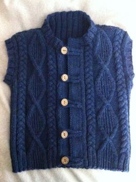 Knitted baby sweater, vest patterns (14)