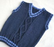 Knitted baby sweater, vest patterns (18)