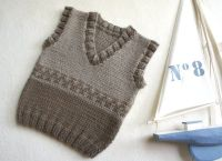 Knitted baby sweater, vest patterns (49)