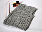 Knitted baby sweater, vest patterns (56)