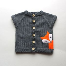 Knitted baby sweater, vest patterns (64)